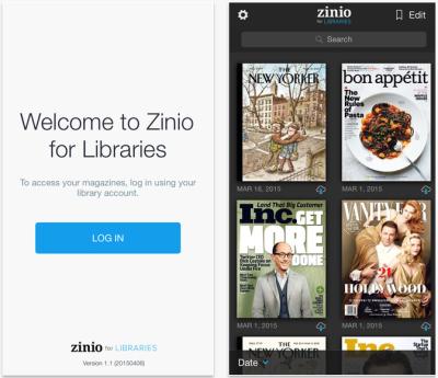 Zinio app